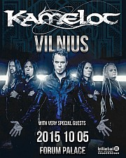 KAMELOT - World Tour 2015 + very special guests, 2015-10-05 pirmadienis 19:00 val., Forum Palace, GALAXY, Vilnius