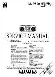 Aiwa CS-P500 serviso instrukcija [en]