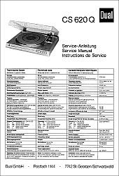 Dual CS 620 Q serviso instrukcija [de, en, fr]