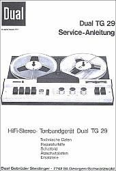 Dual TG 29 serviso instrukcija [de]