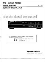 Harman/Kardon HD7625 serviso instrukcija [en]