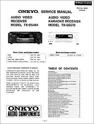 Onkyo TX-DS484, TX-SE570 serviso instrukcija [en]