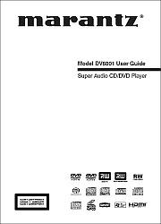 Marantz DV6001 vartotojo instrukcija [en]