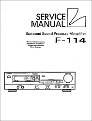 Luxman F-114 serviso instrukcija [en]