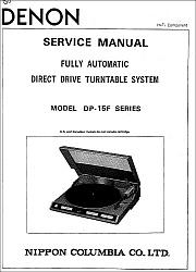 Denon DP-15F serviso instrukcija [en]
